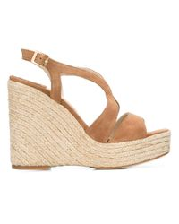 Paloma Barceló | Natural Wedge Sandals | Lyst