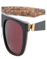 Retrosuperfuture Black Flat Top Sunglasses