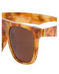 Retrosuperfuture Brown Flat Top Sunglasses