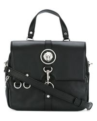 Versus | Black Logo Plaque Shoulder Bag | Lyst