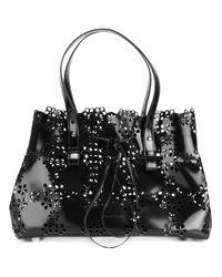 Simone Rocha | Black Perforated Trim Tote Bag | Lyst
