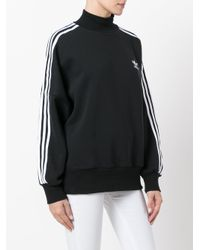 Adidas Originals Black Funnel-neck Sweatshirt