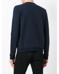 Ferragamo Blue Graphic Print Sweatshirt for men