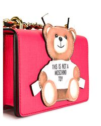 Moschino Red Paper Toy Bear Shoulder Bag