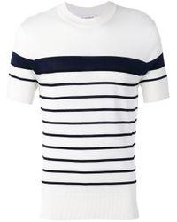 Neil Barrett Black Breton Striped T-shirt for men