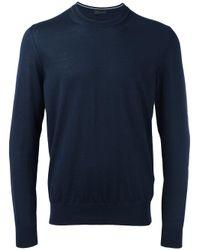 Z Zegna | Blue - Plain Sweatshirt - Men - Wool - S for Men | Lyst