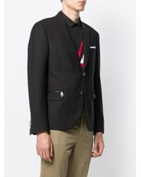 Blazer monopetto di Neil Barrett in Black da Uomo