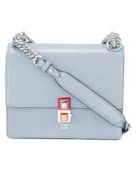 Fendi Gray Small Kan I Shoulder Bag