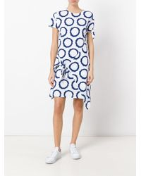J.W.Anderson - White Printed Tie Knot Dress - Lyst