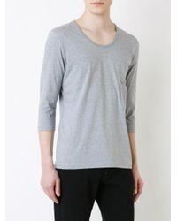 Factotum Gray Plain T-shirt for men