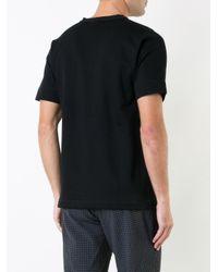 Factotum Black Button Neck T-shirt for men