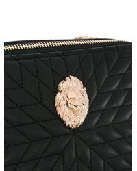 Roberto Cavalli Black Quilted Crossbody Bag