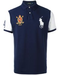 Polo Ralph Lauren | Blue Multi Patched Polo Shirt for Men | Lyst