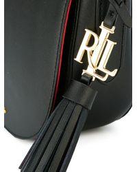 Lauren by Ralph Lauren Black Saddle Crossbody Bag