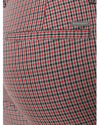DSquared² - Red Slim Plaid Trousers - Lyst