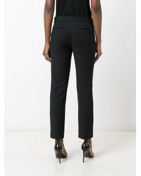 Diane von Furstenberg - Black Slim-fit Tailored Trousrs - Lyst
