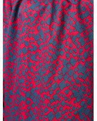 Sonia Rykiel | Blue Patterned Off-shoulders Dress | Lyst