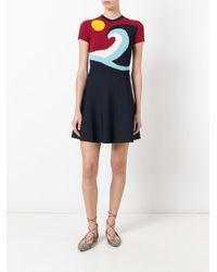 RED Valentino Blue Flared Knit Dress
