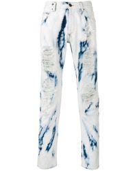 Palm Angels | Blue Tie Dye Skinny Jeans for Men | Lyst
