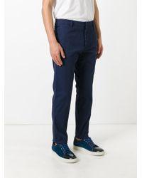 Valentino | Blue Straight-leg Trousers for Men | Lyst