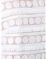 Nicole Miller White Broderie Anglaise Shift Dress