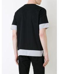 Factotum Black Contrast T-shirt for men