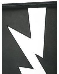 Neil Barrett Black Lightning Clutch Bag for men