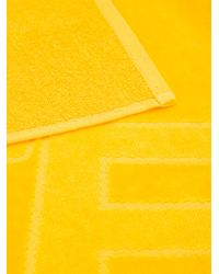Fendi - Yellow Embroidered Beach Towel - Lyst