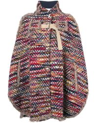 See By Chloé Multicolor Cape Coat