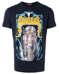 Roberto Cavalli - Blue Print T-shirt for Men - Lyst