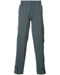 Undercover | Blue Cargo Pocket Striped Trousers for Men | Lyst