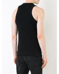 Balmain - Black High Neck Tank Top for Men - Lyst