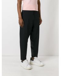 Adidas Originals - Black Tapered Track Pants for Men - Lyst