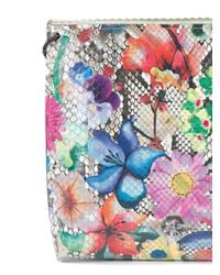 B May Multicolor Floral Print Cross Body Bag