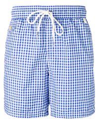 Polo Ralph Lauren | Blue Gingham Print Swim Shorts for Men | Lyst