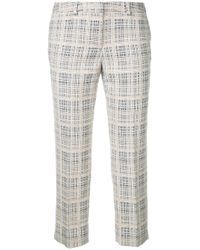 Incotex | Multicolor - Cropped Checked Trousers - Women - Cotton/acrylic/polyester - 38 | Lyst