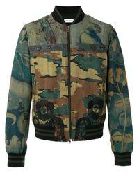 Dries Van Noten | Green Camouflage Bomber Jacket for Men | Lyst