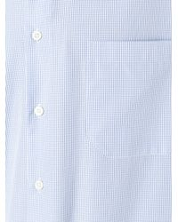 Canali Blue Checked Shirt for men