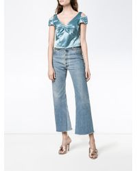Dries Van Noten Blue - Chaney Crop Top - Women - Cotton/viscose - 36