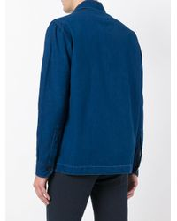Salvatore Piccolo - Blue Multi-pockets Denim Shirt for Men - Lyst