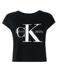 Calvin Klein Jeans Black Logo Print T-shirt for men