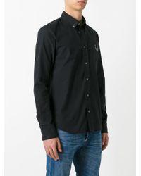 KENZO Black Mini Tiger Button Down Shirt for men