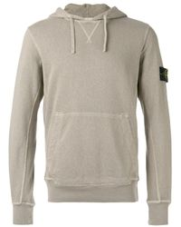 Stone Island | Gray Classic Hooded Sweatshirt for Men | Lyst