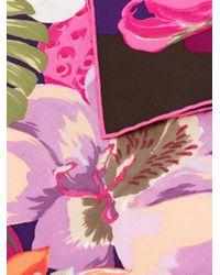 Ferragamo - Multicolor Hibiscus Flower Print Scarf - Lyst