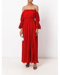 Giambattista Valli | Red Off The Shoulder Dress | Lyst