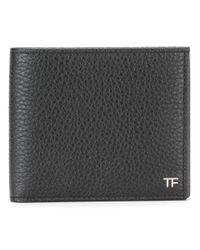 Tom Ford Black Classic Bifold Wallet for men