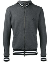 Vivienne Westwood Anglomania Gray Zipped Hoodie for men