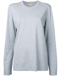 Michael Kors | Gray Crew Neck Sweatshirt | Lyst