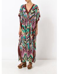 M Missoni - Brown Zigzag Print Shift Dress - Lyst