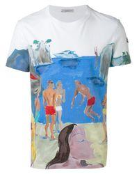 Moncler   White Swimmers Print T-shirt for Men   Lyst
